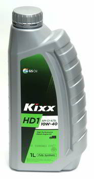 Масло моторное GS Oil Kixx HD1 10w40 CI-4, 1л. (1/12)  (HD1 10w40 CI-4/SL)  Synt