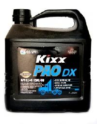 Масло моторное GS Oil Kixx PAO DX 15W40 CJ/SM (  4л.) (уп.4 шт.)  PAO-Synt