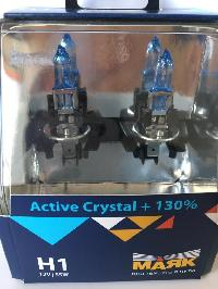 Лампа галогеновая Н 1 12V 55W P14.5s Active Crystal +130% (72120AC+130) 2шт, к-т Маяк