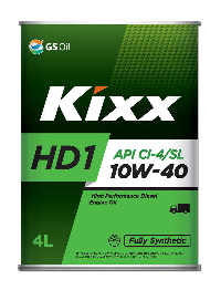 Масло моторное GS Oil Kixx HD1 10w40 CI-4, 4л. (1/4) Метал уп  Synt